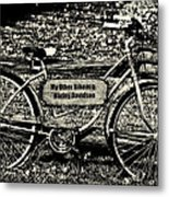 My Other Bike Is A Harley Davidson In Sepia Metal Print