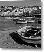 Mykonos Boats Metal Print