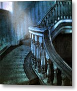 Mysterious Stairway In Old Mansion Metal Print