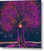 Mystic Spiral Tree 1 Pink By Jrr Metal Print