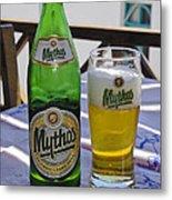 Mythos Beer Metal Print