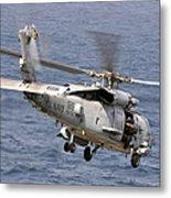 N Hh-60h Sea Hawk Helicopter In Flight Metal Print
