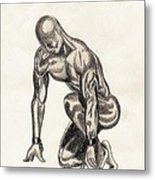 Naked Man Metal Print