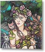 Nancy Jo Heart Of Gold Metal Print