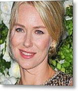 Naomi Watts At Arrivals For Chanel 6th Metal Print by Everett