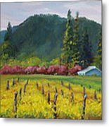 Napa Valley Mustards On Silverado Trail Metal Print