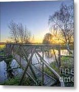 Narrow Iron Bridge Metal Print