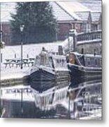 Narrowboats At The Boat Inn Metal Print