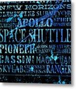 Nasa Legacy Typography  Metal Print