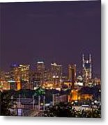 Nashville Cityscape 9 Metal Print