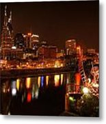 Nashville Lights Metal Print