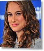 Natalie Portman At The Press Conference Metal Print by Everett
