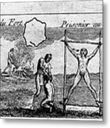 Natchez Punishment, C1725 Metal Print
