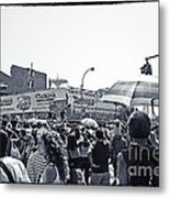 Nathan's Crowd In Coney Island 1 Metal Print