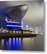 National Convention Center At Night Metal Print