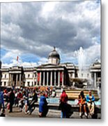 National Gallery At Trafalgar Square Metal Print