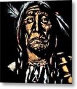 Native American Elder Metal Print