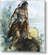 Native American Hunter Metal Print