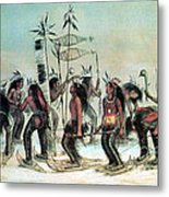 Native American Indian Snow-shoe Dance Metal Print