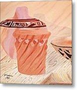 Native American Pottery Metal Print by Alanna Hug-McAnnally