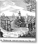 Native American Punishment Metal Print