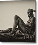 Native American Statue - Eakins Oval Philadelphia Metal Print
