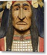 Native Chief Metal Print