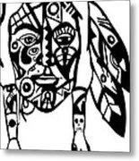 Native Man Metal Print