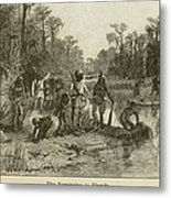 Natives Of Many Southeastern Tribes Metal Print by Everett