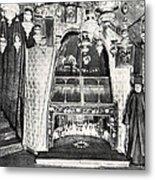 Nativity Grotto In 18th Century Metal Print