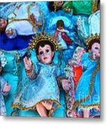 Nativity Scene Figures Metal Print