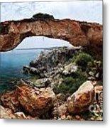 Natural Bridge - Cape Gkreko - Cyprus Metal Print