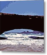 Natural Stone Bridge - Aruba Metal Print