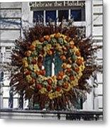 Natural Wreath Metal Print