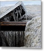 Natures Ice Sculptures 5 Metal Print