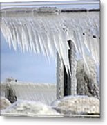 Natures Ice Sculptures1 Metal Print
