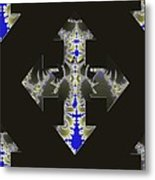Nautical Cross Metal Print
