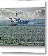 Naval Ship Metal Print