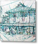 Navigli City Of Milan In Italy Portrait Metal Print