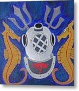 Navy Diver  Metal Print