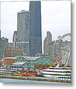 Navy Pier And Vicinity Metal Print