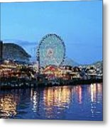 Navy Pier Chicago Digital Art Metal Print