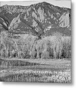 Ncar And Flatiron View Boulder Colorado Bw Metal Print