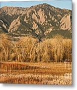 Ncar And Flatiron View Boulder Colorado   Metal Print