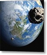 Near-earth Asteroids, Artwork Metal Print by Detlev Van Ravenswaay