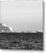 Needles On The Isle Of Wight As Viewed From Mudeford Metal Print