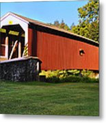 Neff's Mill Covered Bridge In Lancaster County Pa. Metal Print