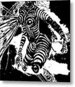 Negative Contours Metal Print
