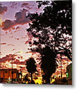 Neighborhood Silhouette  Metal Print