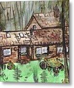 Neighbors Cabin Montana Metal Print